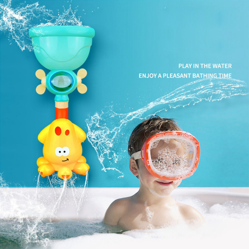 Baby Bath Toys Water Game Octopus Crab Model Faucet Shower Water Spray Toy For Kids Swimming
