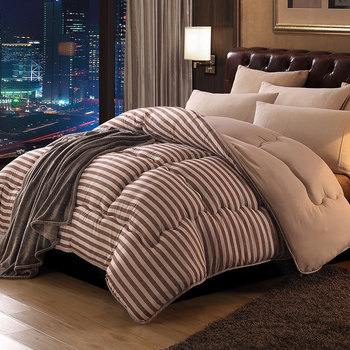 Special Treatment Plaid Striped Comforter Winter Cotton Fabric Polyester Filling Full Queen King Size For Double Bed
