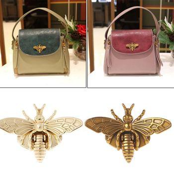 Fashion New Bee Shape Clasp Turn Lock Metal Hardware For DIY Handbag Shoulder Bag Purse Hot 2 Colors - discount item  22% OFF Bag Parts & Accessories