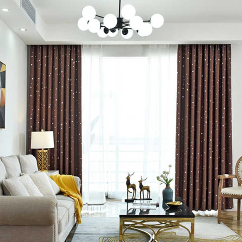 Блестящие звезды детская ткань шторы для детей спальня мальчика девочки гостиная синий/розовый ночные шторы на заказ драпировка 123 и 30
