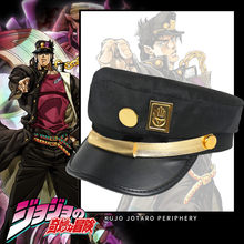 New Anime Jojo's Bizarre Adventure Kujo Jotaro Cosplay Hats Cotton Kids Adult Metal Badge Dome Hat Cap Party Halloween Gifts Toy(China)