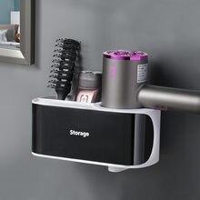 Caliente magia pared montado en estanterías de almacenamiento No hay rastro pegatinas creativo taza de la succión del soporte de secador peine estante de baño