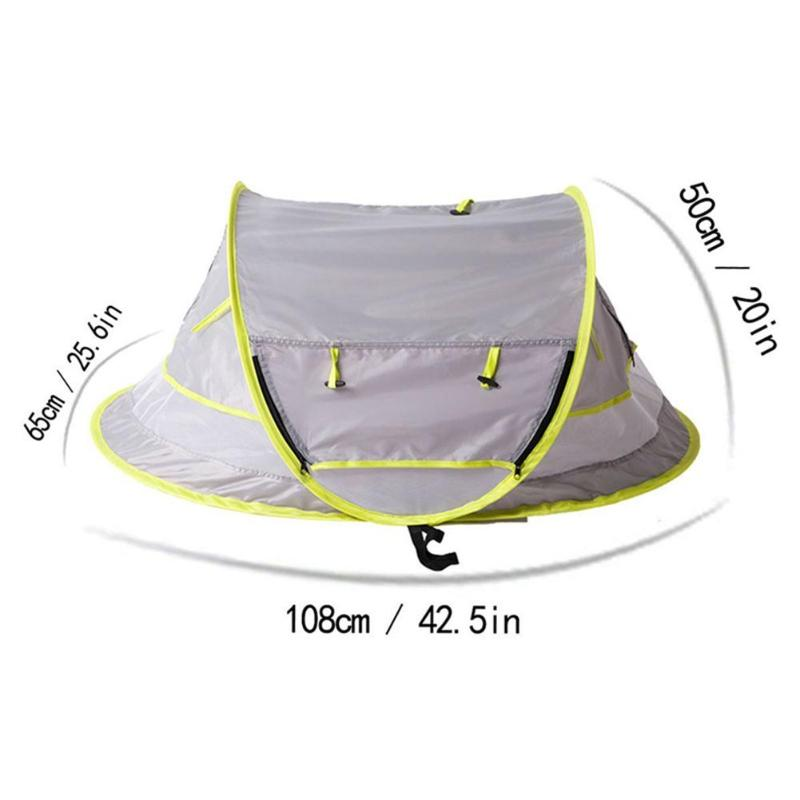 Купить с кэшбэком Baby Beach Tent UV Protection Sunshelter Foldable Mosquito Net Kids Outdoor Camping Tents Sunshade Beach Toy Tent Portable