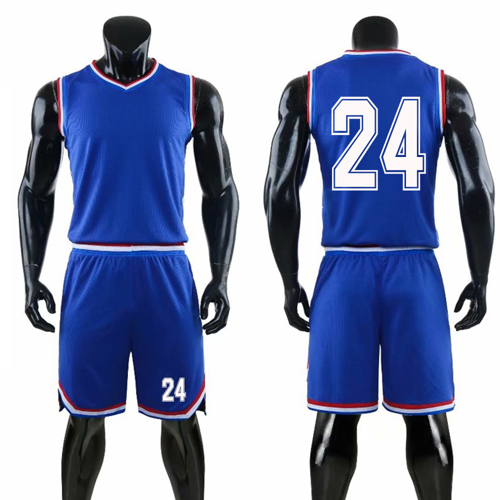 <font><b>USA</b></font> Basketball Uniforms Custom Number Men Basketball <font><b>Jersey</b></font> Sets Sports Clothes Vest and Shorts image