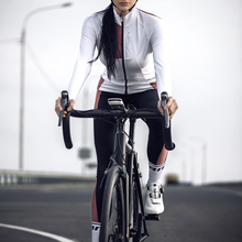 Pants Cycling-Sets Warm-Up Fleece Winter Women Windproof Santic Autumn Reflective Asian-Size