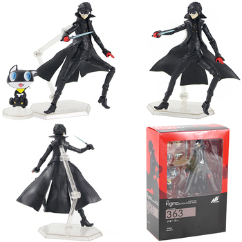 16cm Persona 5 Figma 363# Shujinkou and Morgana Joker Ver. Action Figure PVC Collectible Model Toy Doll gifts 1