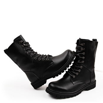 Military Tactical Ankle Boots Men Outdoor Leather Winter Fur Warm Man Boots Us Army Hunting Boots For Men Shoes Casual Black Bot 3