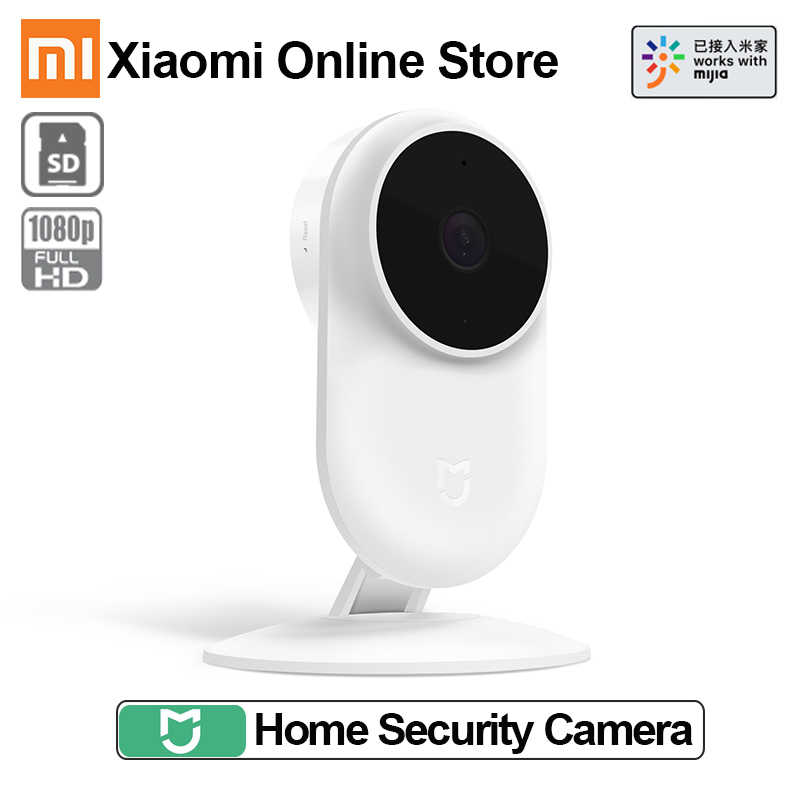 2018 nuevo Xiaomi mi jia Smart IP Cam 2MP 1080P P2P 130 gran angular IR 10m cámara Web audio bidireccional Wifi mi cámara de seguridad del hogar