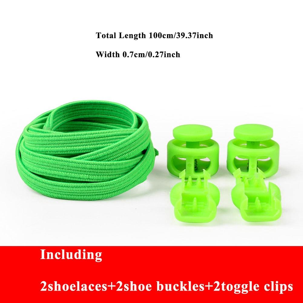 No Tie Shoelaces Stretching Lock Lace Locking Shoe Laces Elastic Sneaker Chidren Shoelaces Shoestrings Running/Jogging/Triathlon