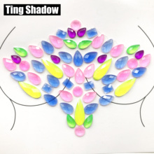 3D Fluorecent Luminous Crystal Tattoo Sticker Fashion Body Gems Festival Gypsy Face gems face crystal Party Makeup