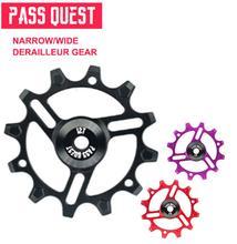 12T MTB Bike bearing jockey wheels PASS QUEST Mountain Aluminum bicycle rear derailleur pulleys For9-12 speed Derailleur