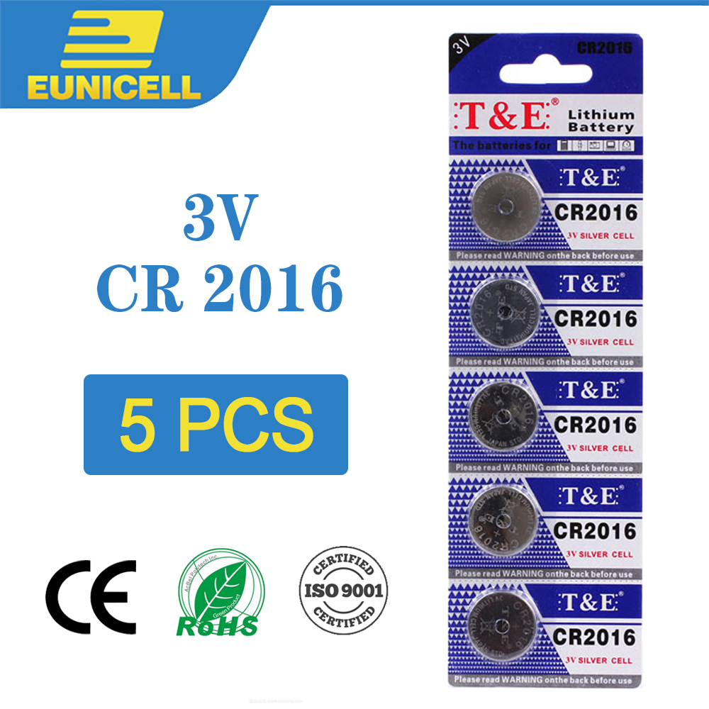 5PC Lithium Cell Coin Battery 3V CR2016 CR 2016 Button Batteries DL2016 ECR2016 LM2016 BR2016 For Watch Toy Remote Scale Car Key image