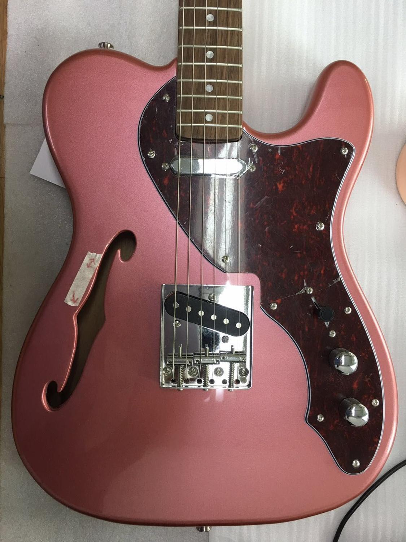 o Envio Gratuito de Bolsa Tokai Macio Thinline Corpo f Buraco Guitarra Elétrica Tradicional 70s