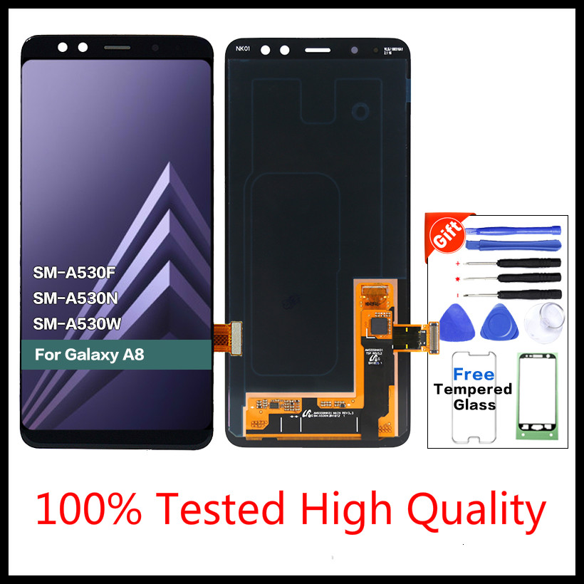 1 Pcs Original display LCD <font><b>Screen</b></font> for SAMSUNG Galaxy A8 2018 LCD A530 A8 2018 LCD <font><b>A530F</b></font> LCD Display Touch Digitizer <font><b>Replacement</b></font> image