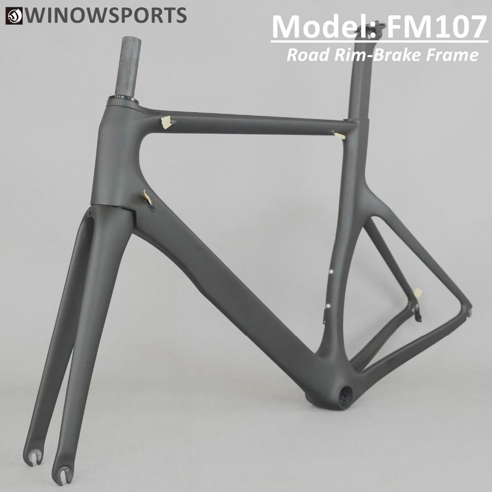 Winowsports 2020 New Aero Carbon Road Bike Frameset BB86 Rim Brake 700*25mm Wheel UD Weave Chinese Cheap Road Frame