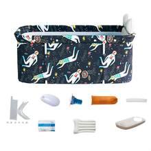 Ensemble de seaux de baignoire pliable Portable, 120X55X50cm, Kit pour famille adulte, en PVC, beauté, Spa, bébé