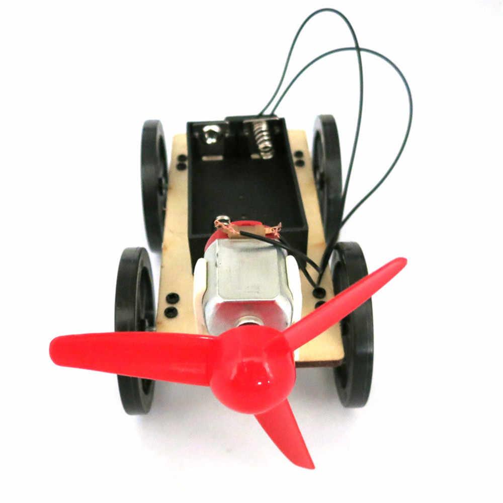 Mini rüzgar enerjili Diy araç kiti çocuk eğitim öğrenme hobi komik küçük aletler yenilik ilginç oyuncaklar doğum günü hediyesi zanaat oyuncaklar