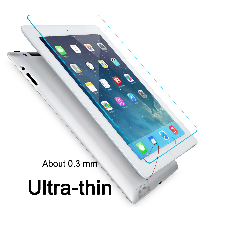 9H-Transparent-Real-Tempered-Film-Glass-For-Apple-iPad-2-3-4-Mini-for-ipad-Pro