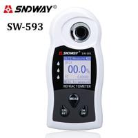 SNDWAY Professional Refractometer Sugar Brix Meter Saccharimeter LCD Display Wine Beer Drink Fruit Sugar Concentration Detector