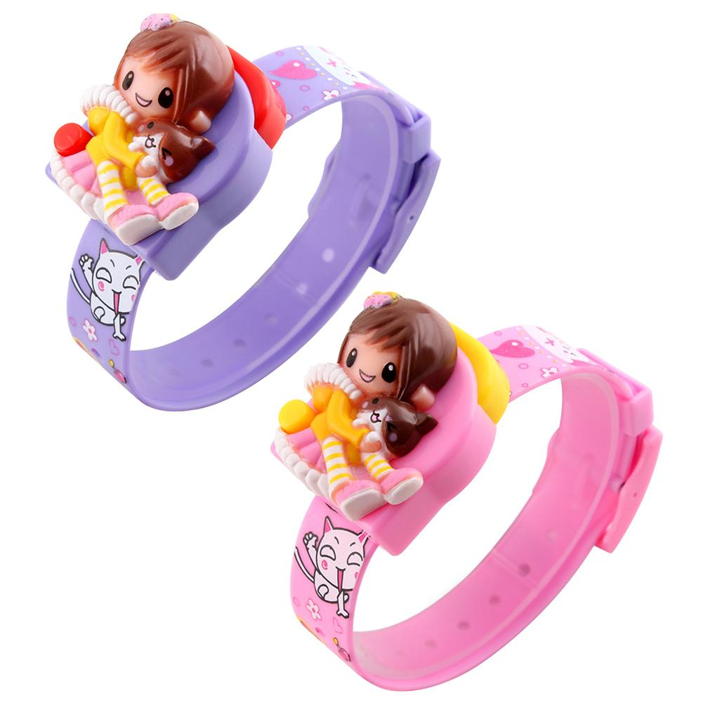 Cool Children's Electronic Watch Cartoon Toy Princess Cat Innovative Watch For Kids Student