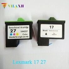 Vilaxh картридж с чернилами для принтера Lexmark 17 27 для lexmark X1270 i3 X1100 X1150 X2250 X75 Z13 Z23 Z34 Z515 Z517 принтер