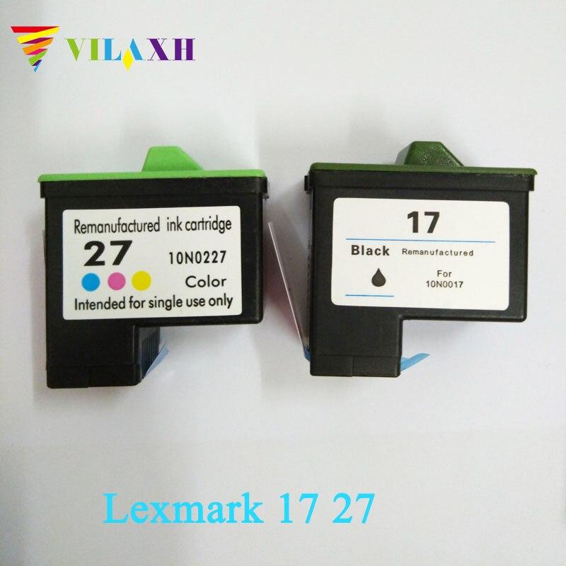 Cartucho de Tinta para Impressora Lexmark 17 Vilaxh 27 para lexmark i3 X1270 X1100 X1150 X2250 X75 Z13 Z23 Z34 Z515 Z517 impressora