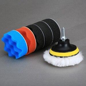 Image 3 - 8 pçs/set 3 polegada polidor de polimento almofada esponja kit carro com rosca m10 adaptador lavagem carro detalhamento limpeza do carro estilo