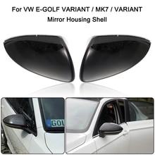 Чехол для зеркала заднего вида, боковое крыло, чехол для зеркала заднего вида, глянцевый черный чехол для VW GOLF 7 MK7 MK7.5 GTI R GTE GTD 2013-2018