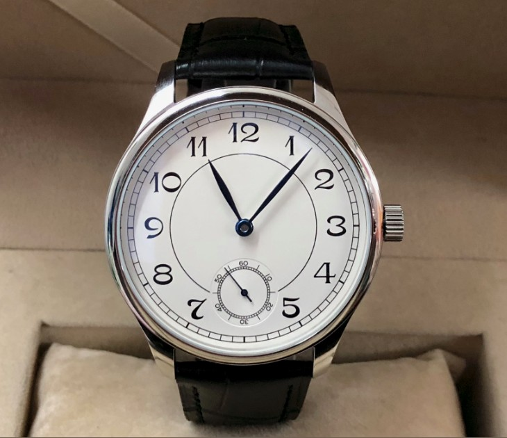 44mm PARNIS Asian 6498 17 jewels Mechanical Hand Wind movement men's watch White dial Mechanical watches PA69-P8