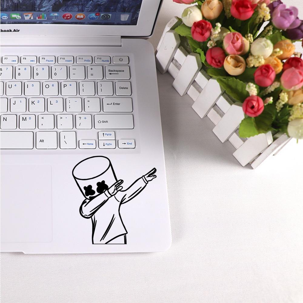 Fashion Hip-hop DJ Black Partial Skin Stickers For Laptop Decal Pro Air Retina 11