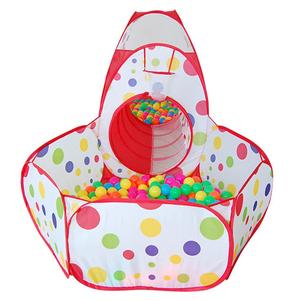 Image 3 - Tienda de campaña grande para niños, Teepee de tubo de piscina, PISCINA DE BOLAS para niños, Pit plegable, tubería para gateo, casa de juego