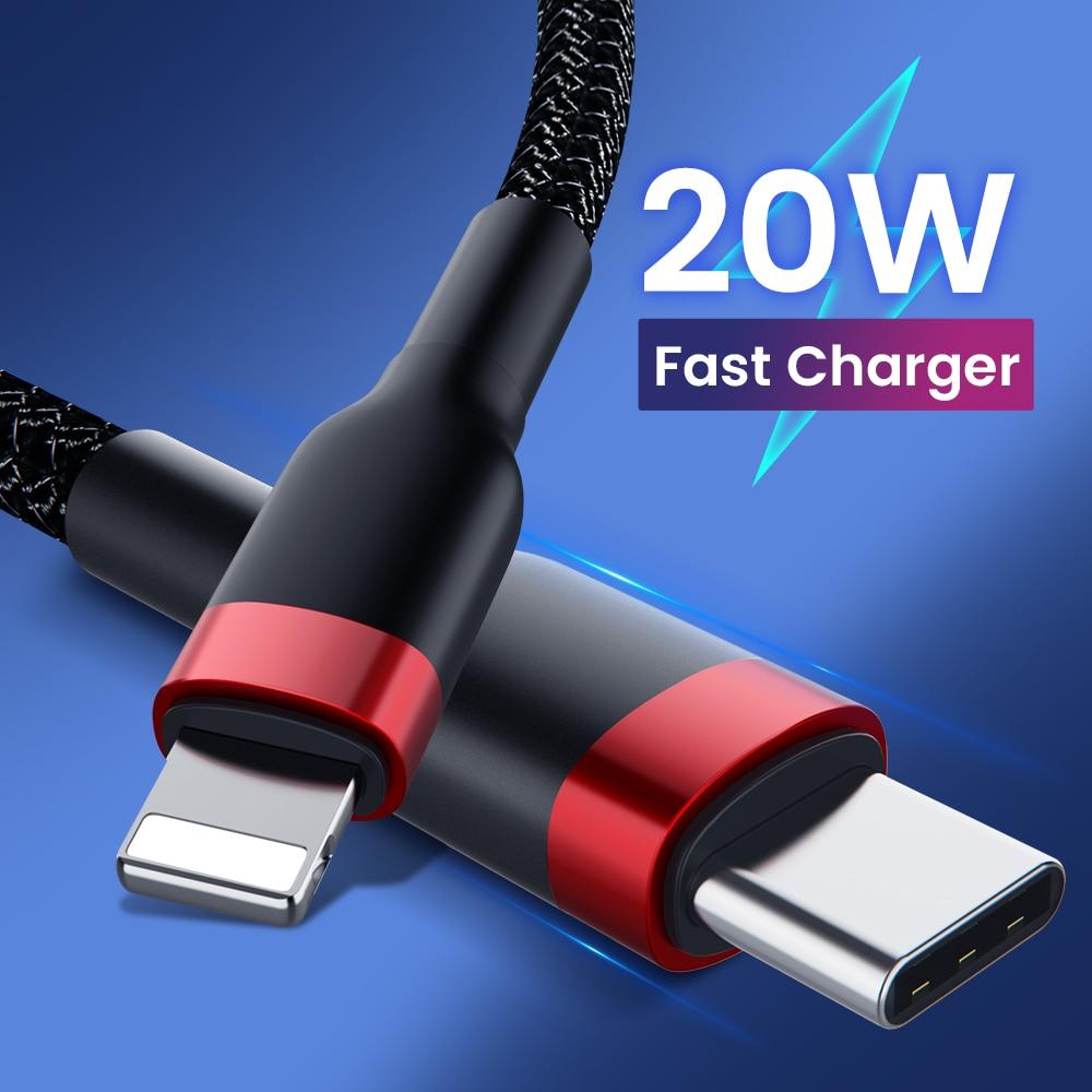USB C кабель для быстрой зарядки для iPhone 12 11 Pro Max 12 Mini XS XR ES PD 20 Вт, кабель для быстрой зарядки и передачи данных, USB-кабель типа C для телефона