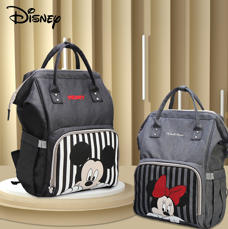 Disney Minnie Mickey Mommy Bag For Baby Usb Diaper Bag Backpack Maternity Baby In Nappy Bags Large Capacity Bag For Stroller New