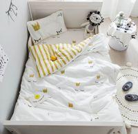 3Pcs Baby Bedding Set 100% Cotton Cartoon Eyelash Crib Duvet Cover Baby Bed Linens Newborn Cot fitted Sheets Infant Pillowcase