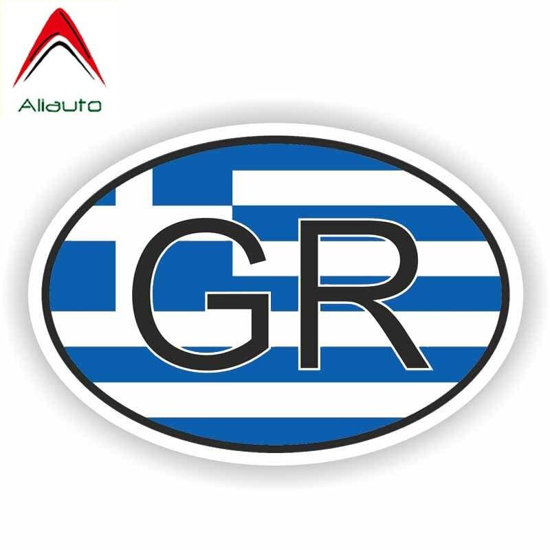 Aliauto Creative Greece Car Sticker Funny Country Code Waterproof Reflective Decoration Decal Accessories Vinyl,11cm*7cm