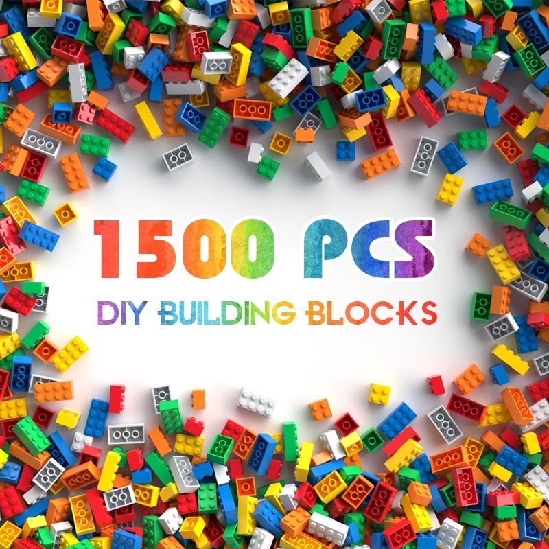 Building Blocks City DIY Creative Bricks Bulk Model   Kids Assemble Toys Compatible All Brand Small Size 1500PCS