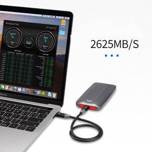 Image 3 - Thunderbolt 3 kablo erkek 40Gbps 100W 5A/20V destek 5K UHD veya 4K 60HZ ekran USB tipi C 0.3m 0.61m 0.92m 1.22m