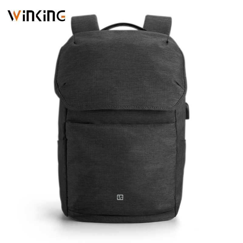 """Kingsons WK 15.6 """"Laptop Sạc USB Bên Ngoài Máy Tính Ba Lô Chống Trộm Túi Chống Nước Dành Cho Nam Nữ Mới phong Cách"""