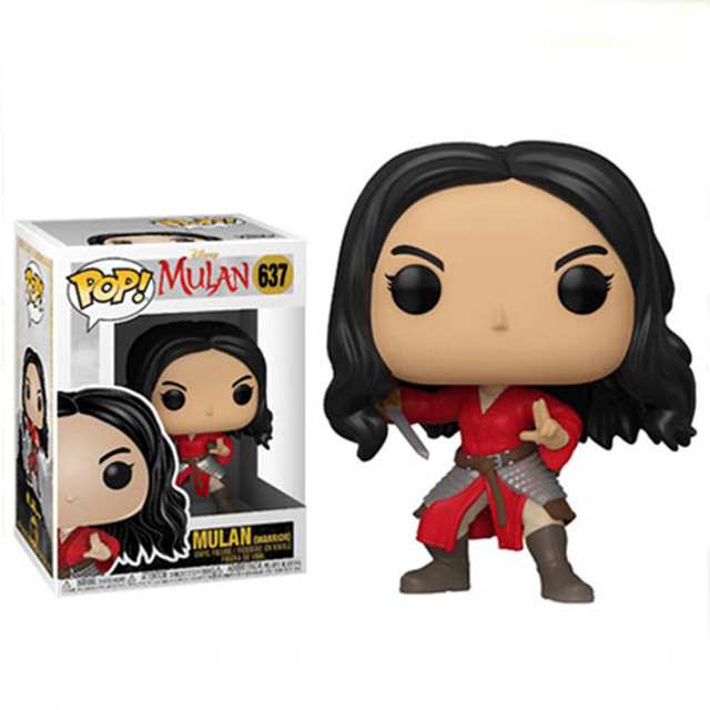 FUNKO POP Mulan #637 Movie Figure Collection Model Dolls 10cm Vinly Action Figure Toys for Kids Birthday Gifts 3