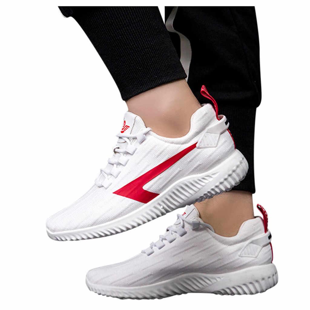 Zapatos vulcanizados para hombre zapatos de moda Casual transpirable con cordones zapatillas deportivas para correr otoño zapatos planos tenis masculino