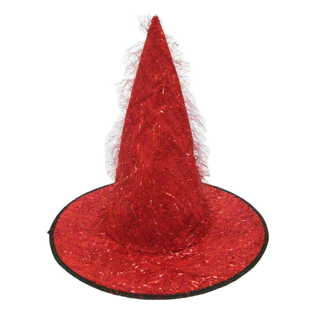Halloween Unisex Cloth Pointed Tip Witch Hat Cap Costume Party Photography Prop