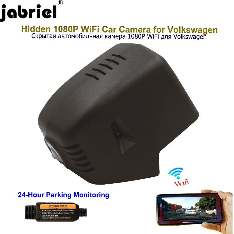 Jabriel Скрытая 1080P Автомобильный видеорегистратор, Автомобильная камера для Volkswagen tiguan mk2 2016 2017 2018 vw golf 4 5 6 7 mk3 mk4 passat b8 polo