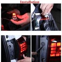 1 PC Car LED Lights Red Strobe Flash Auto Brake Light 1157 BAY15D T20 7443 LED Bulbs 1156 BA15S P21W For Brake Reverse Light 12V 5