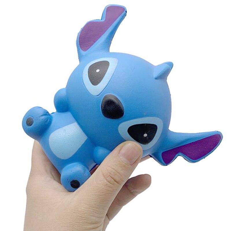 Купить сжимаемые игрушки jumbo kawaii stitch медленно восстанавливающие