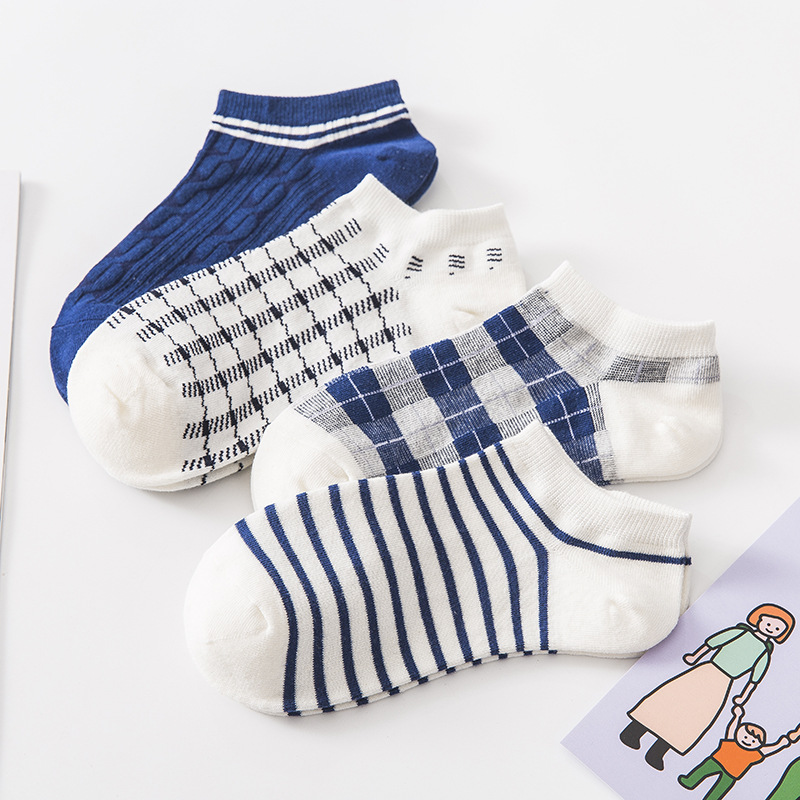 Funny Cute Socks Women Kawaii Harajuku Femme Sock Woman Summer Soft Stripe Cotton Hot Sale Girls Low Cut Ankle Short Socks Meias