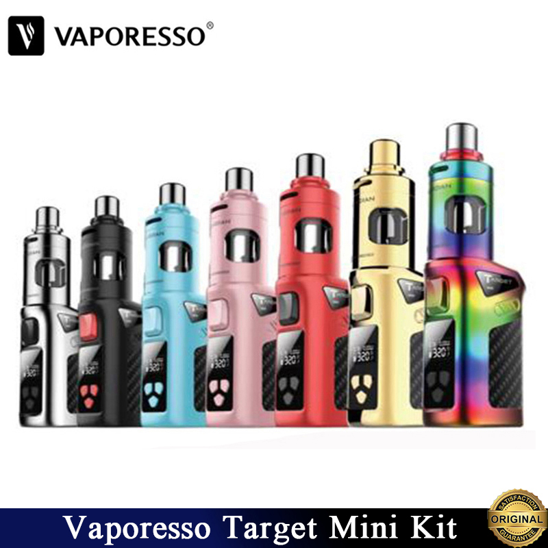 Originele Vaporesso Doel Mini Kit Vape & 40W Doel Mini TC Doos Mod 2ml Guardian Tank 1400mAh ingebouwde Batterij E Sigaret Vaporizer-in Kits voor e-sigaretten van Consumentenelektronica op  Groep 1