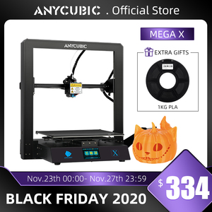 Image 1 - Anycubic מגה X מגה סדרת 300*300*305mm 3D מדפסת גדול הדפסת גודל Meanwell כוח אספקת Ultrabase 3d Impressora