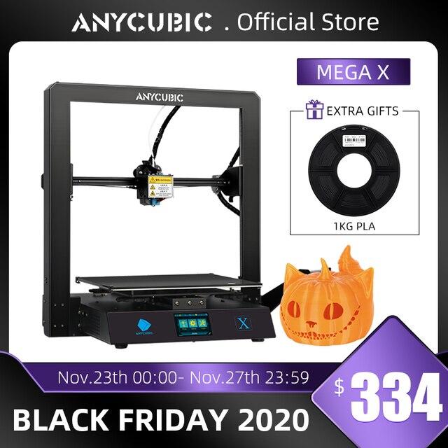 Anycubic מגה X מגה סדרת 300*300*305mm 3D מדפסת גדול הדפסת גודל Meanwell כוח אספקת Ultrabase 3d Impressora