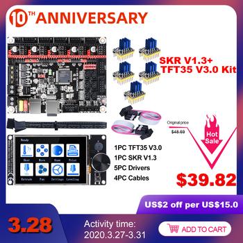 BIGTREETECH SKR V1 3 32Bit pokładzie + TFT35 V3 0 ekran dotykowy + 5pc TMC2208 TMC2209 UART TMC2130 spi 3D drukarki części MKS SGEN gen L tanie i dobre opinie BIQU Płyta główna SKR V1 3 32Bit Board kits ARM cortex-M3 CPU DC12V-DC24V 5A-15A TMC2208 TMC2130 TMC2209 TMC5160 ST820 LV8729 DRV8825 A4988