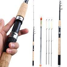 Sougayilang 3.0m 3.3m 3.6m l m h alimentador de energia haste de pesca fiação com acessórios gratuitos vara de viagem de pesca carpa alimentador pólo